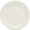 "Plate 9"" White Foam Unlaminated"
